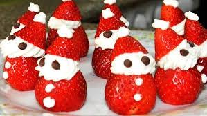 receta Papá Noel con fresas
