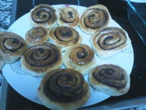 receta Cinnamon rolls o rollitos de canela