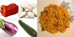 receta Fideuá de verduras