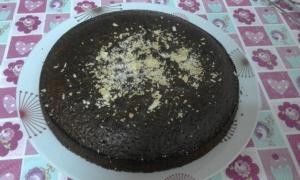 receta Bizcocho de yogur de cacao y tres harinas