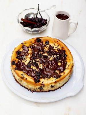 receta Tarta de cerezas y chocolate de Jamie Oliver