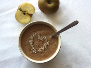 receta Batido de manzana y sésamo