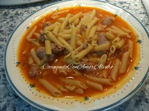 receta Macarrones con Salchichas Frescas
